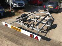 Snipe Roller Bunk Galv. unbraked RIB Rigid inflatable boat trailer power fishing sailing upto 5M