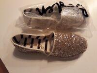 Boden Brand new glitter shoes - kids size 34