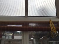 5 x Bamboo roller blinds for conservatory,bedrooms patio doors