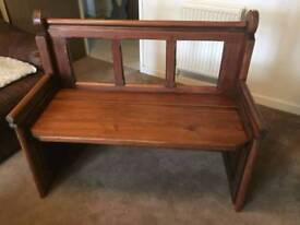 Mahogany monk bench