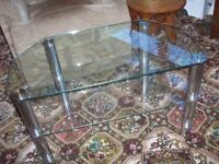 Corner glass TV Stand/Table
