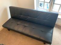Black click-clack sofa bed