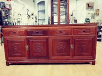 Solid Wood Chinese panelled sideboard