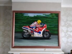 Joey Dunlop - large acrylic painting