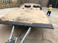 Caravan chassis, braked trailer