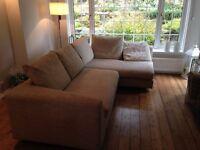 Large natural corner sofa