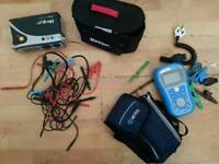 Megger mft1502 and mi3125 electric meter tester