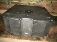 PA sub powered ideal solo, duo, live band or DJ. 600w FBT great sound easily carried