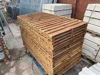 *NEW* BROWN TANALISED WOODEN GARDEN FENCE PANELS