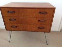 Vintage G Plan Teak Sideboard Retro Chest of Drawers on Hairpin Legs