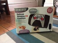 Homedics Deluxe Shiatsu Cushion with heat and remote control
