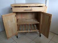 *URGENT** Wooden Kitchen Trolley/Cupboard/ Butchers Block