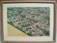 Aerial Photo of Kestel Road Kempshott - Framed 15.5 X 19.5 inches