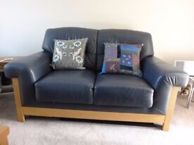 Two Seater Leather Sofa - Crawley