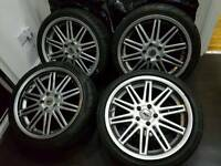 18 INCH 5X112 AUDI VW ZCW ALLOYS WITH NEW TYRES FIT A3 A4 A6 TT GOLF PASSAT SEAT LEON SKODA ETC