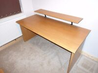 Desk, cupboard and under desk drawers in cherry