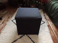 IKEA Black Footstool with storage BOSNÄS