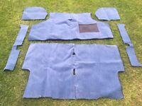 Classic Mini mid blue carpet set