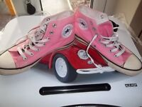 CONVERSE ALL STAR SIZE 6 / 39 PINK HI TOP TRAINERS SHOES £8 ono