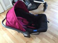 baby first step car seat with rain cover /mother care