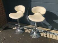 Two quality breakfast bar stools for sale - very good condition