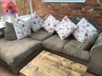 Corner Sofa and Matching Cushions