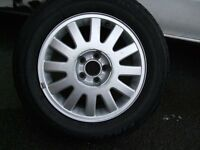 Audi A three wheel and tire 15 inch 8L / tire 195/65/r15/good see pictures Five stood