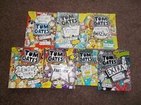 Tom Gates books. The first 7 in the Tom Gates series of books.