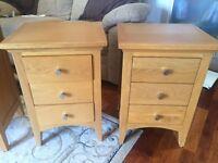Pair of Solid Oak Bedside Tables