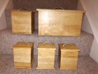 Lovely wooden storage set