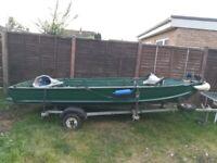 Aluminium 14ft fishing boat