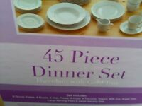 45 Piece Dinner Service.