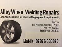 Alloy wheel welding repairs