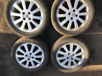 Vauxhall alloys 4 stud 4x100 16 inch wheels fits many makes Vauxhall Honda Mazda Citroen rover
