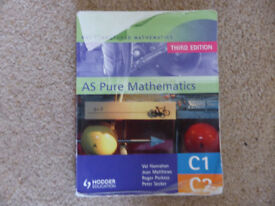 AS Pure Mathmatics, MEI Structured Mathmatics, 3rd edition book, used, only £5