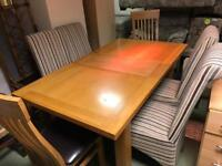 Solid wood table + 6 chairs