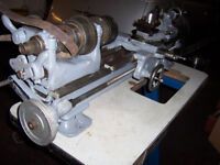 SOUTHBEND 9 INCH BENCH LATHE SINGLE PHASE GOOD CONDITION WITH BENCH