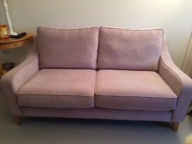 SOFA excellent condition, nearly new, Lilac 3 seater.
