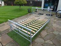 "Double Bed Frame Slatted Base 4ft 6"" Only £20"