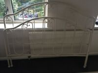 Laura Ashley cream metal bed frame
