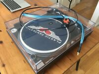 turntable technics 1210 m3d same features as mk5 with cover and ortofon pro s needle