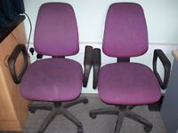 swivel office chairs, choice of 4