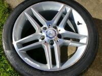 "17"" MERCEDES C CLASS AMG 08-14 ALLOY WHEEL EXCELLENT 245/40/17"" CONTINENTAL 6mm TYRE W204 5x112"