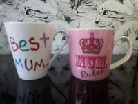 FIVE lovely MUM Mugs super clean for Mother's Day Take your pick!