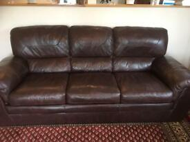 2x 3 seater leather sofa from Oak Furniture Land