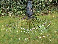 Set of Golf Clubs, cart bag, balls, tees and shoe studs
