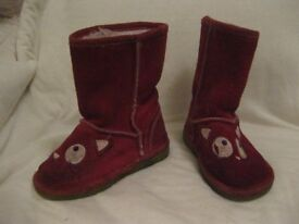 Next girl's suede boots UK size 7