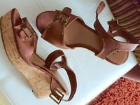Women's shoes F&F ladies wedge sandals size 5