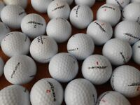 60 Dunlop Golf Balls. Various types. Excellent condition. Mostly Grade A / Pearl Grade.