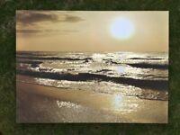 Next, Sunny Beach Canvas Print (W77cm x H57cm x D4).